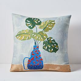 6d0777df2f14 Tropical Arrangement Cushion Cover