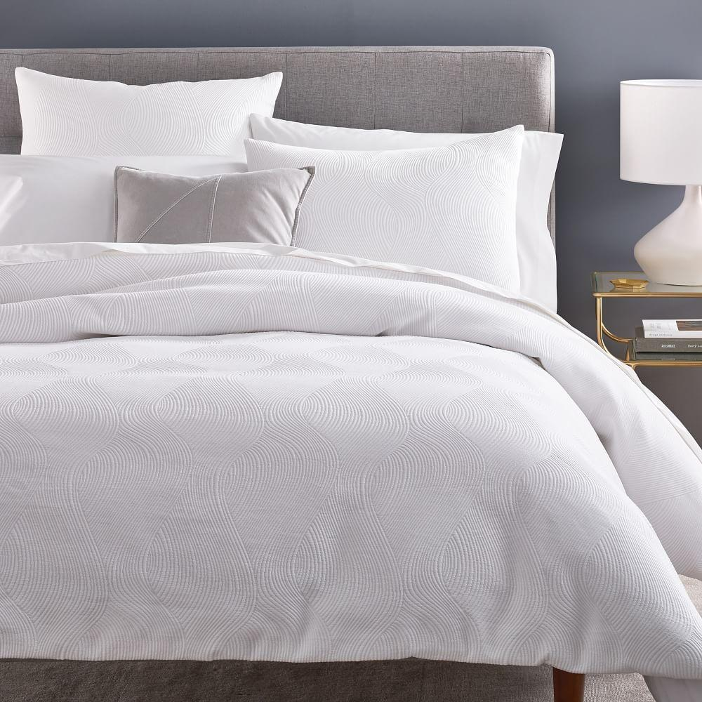 Wavy Jacquard Duvet Cover + Pillowcases