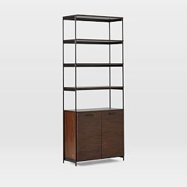 Foundry Wide Bookcase - Dark Walnut