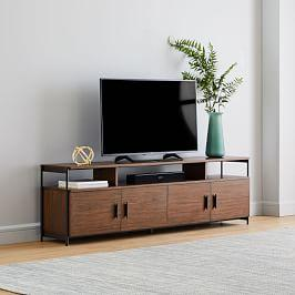 Foundry Media Console (207 cm) - Dark Walnut