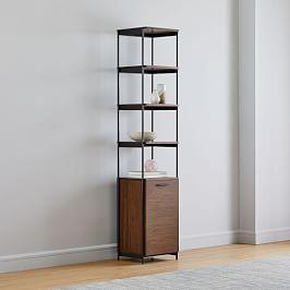 Foundry Narrow Bookcase - Dark Walnut