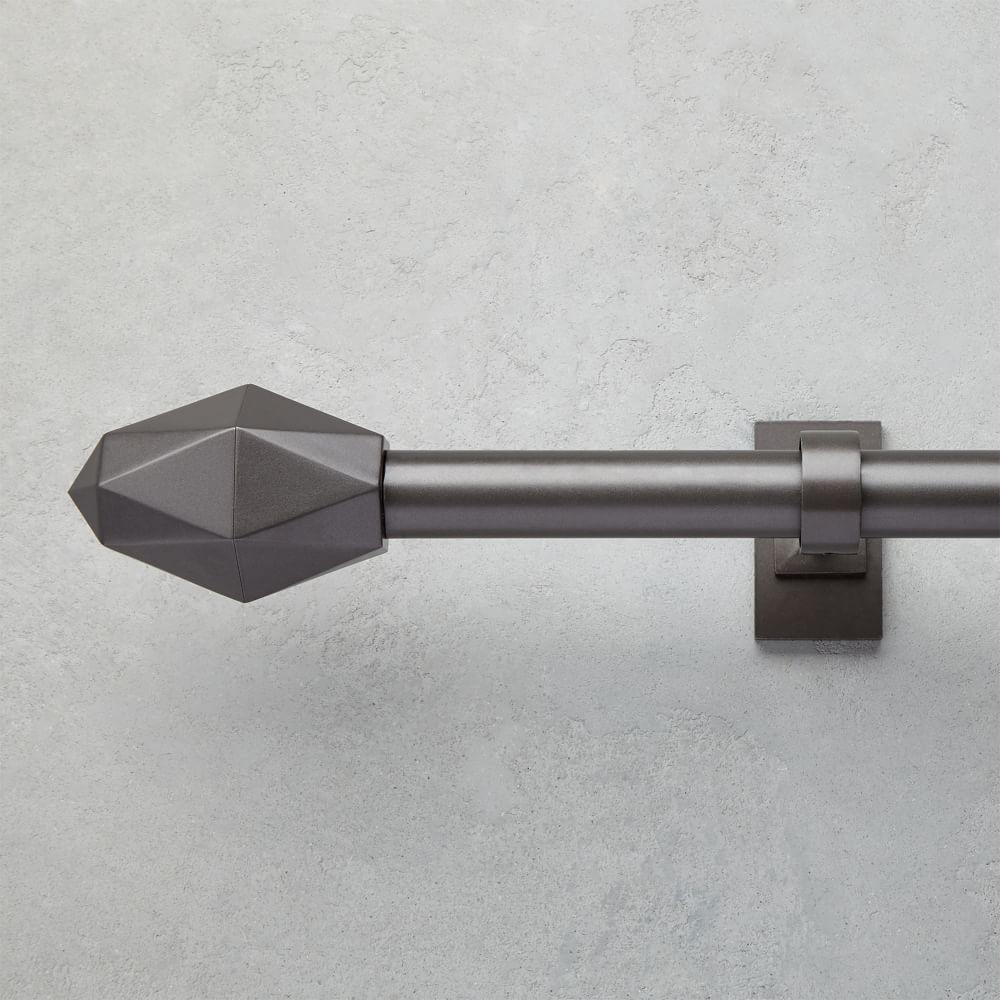 Faceted Finials (Set of 2) - Gunmetal
