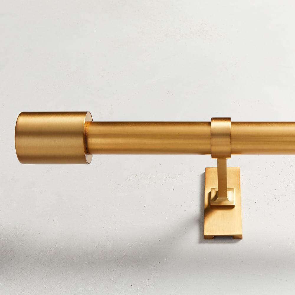 Oversized Adjustable Metal Rod - Antique Brass