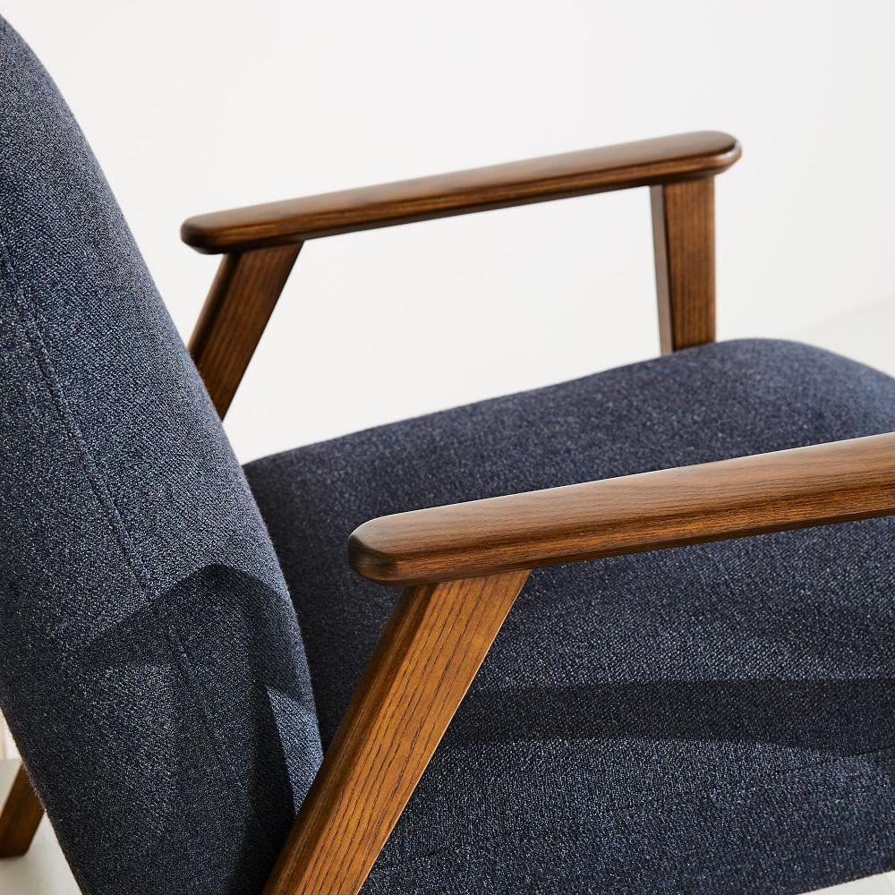 Janie Show Wood Chair - Black Indigo (Twill)