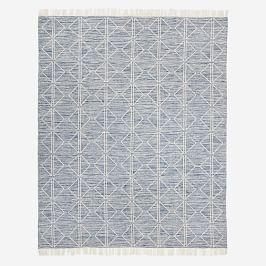 Reflected Diamonds Indoor/Outdoor Rug - Iron