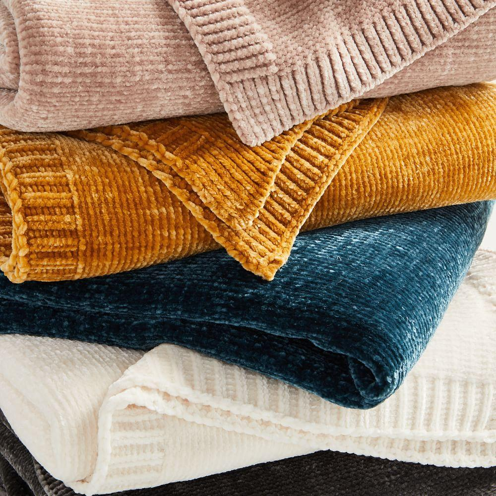 Luxe Chenille Throws
