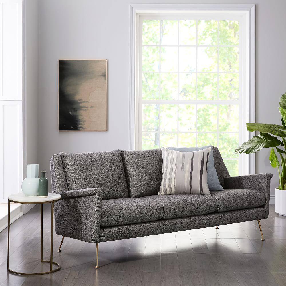 Carlo Mid-Century 3 Seater Sofa (197 cm)