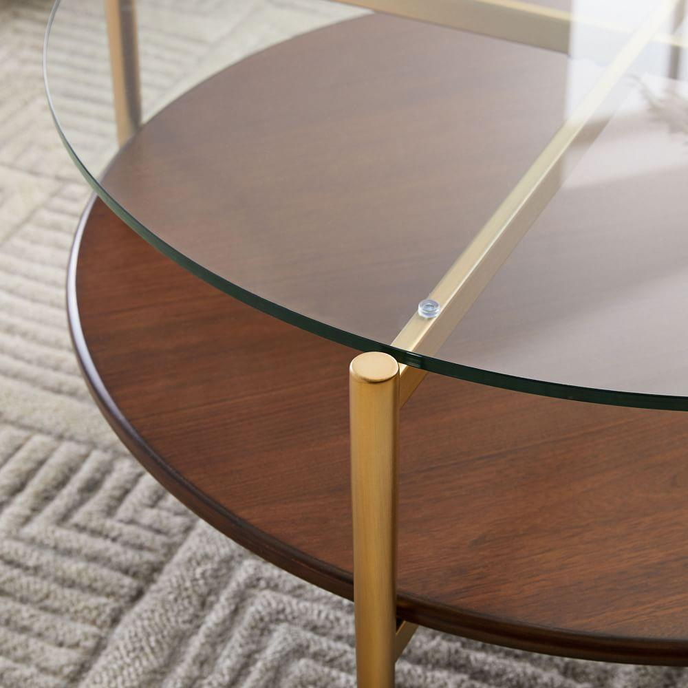 Mid-Century Art Display Round Coffee Table
