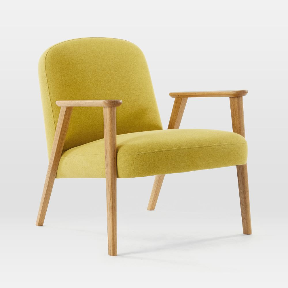 Janie Show Wood Chair - Dark Horseradish (Flannel)