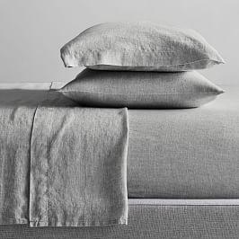 Belgian Flax Linen Melange Sheets - Slate