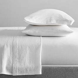 Belgian Flax Linen Sheets - White