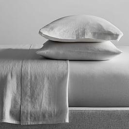 Belgian Flax Linen Sheets - Platinum