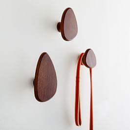 Pebble Wall Hooks (Set of 3) - Walnut