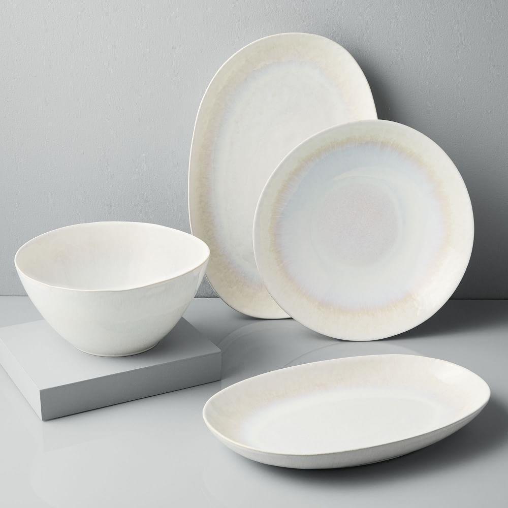 Reactive Glaze Serveware - White
