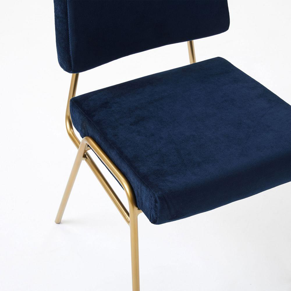 Wire Frame Velvet Dining Chair