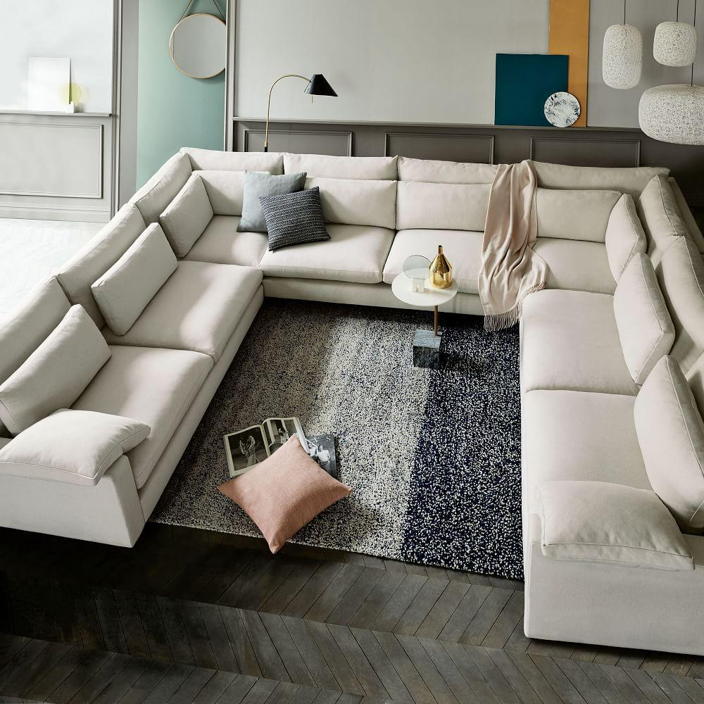 Harmony Down-Filled U-Shaped Sectional