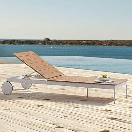 Halden Garden Chaise Lounger - Haze