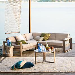 Portside Garden 3-Piece Sectional - Weathered Grey