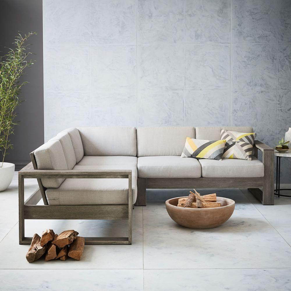 Portside Garden 3-Piece Sectional - Weathered Grey