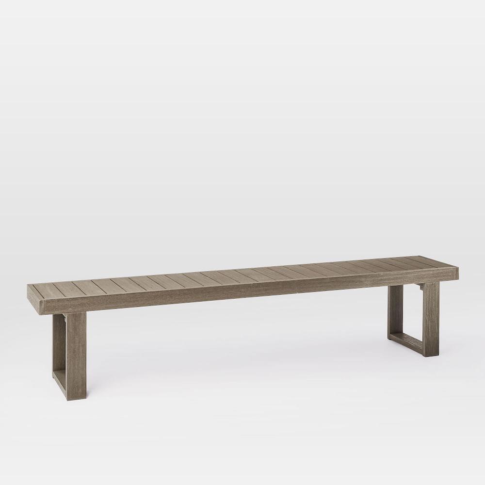 Portside Garden Dining Bench - Weathered Grey