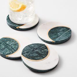 Marble Moon Coasters (Set of 4)