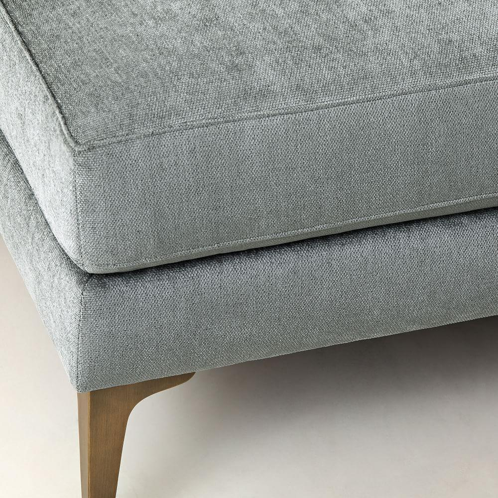 Andes Bench - Mineral Grey (Distressed Velvet)