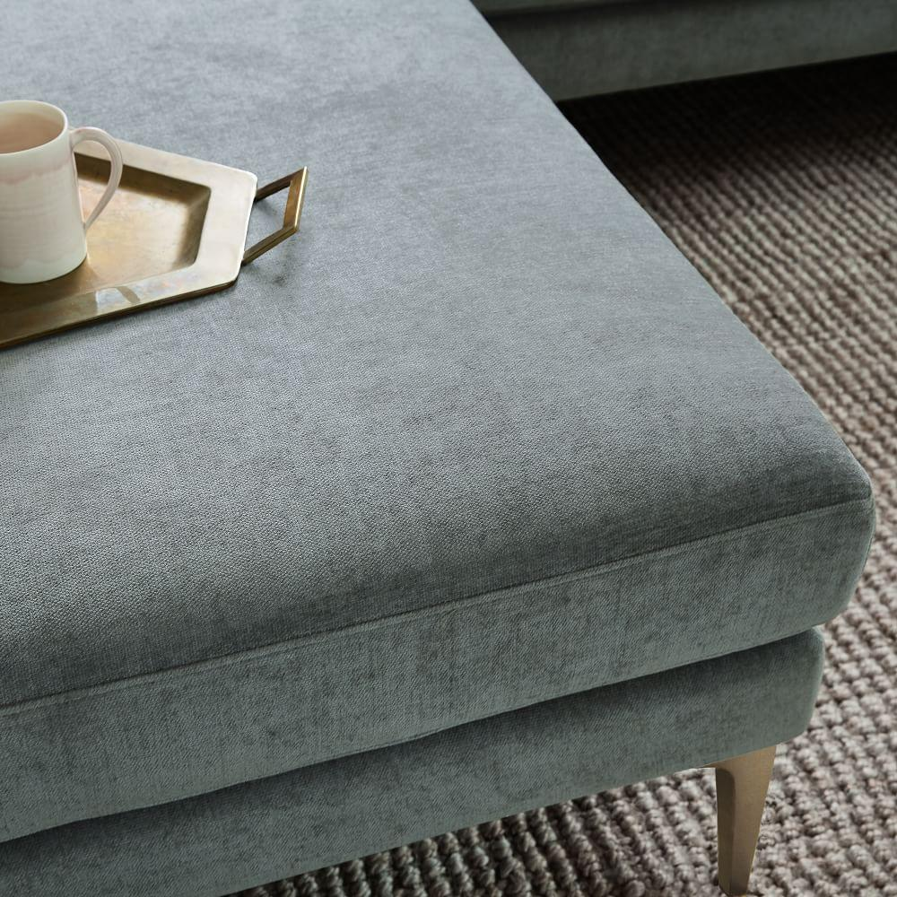 Andes Footstool - Mineral Grey