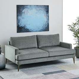 Andes Sofa (194 cm) - Mineral Grey (Distressed Velvet)