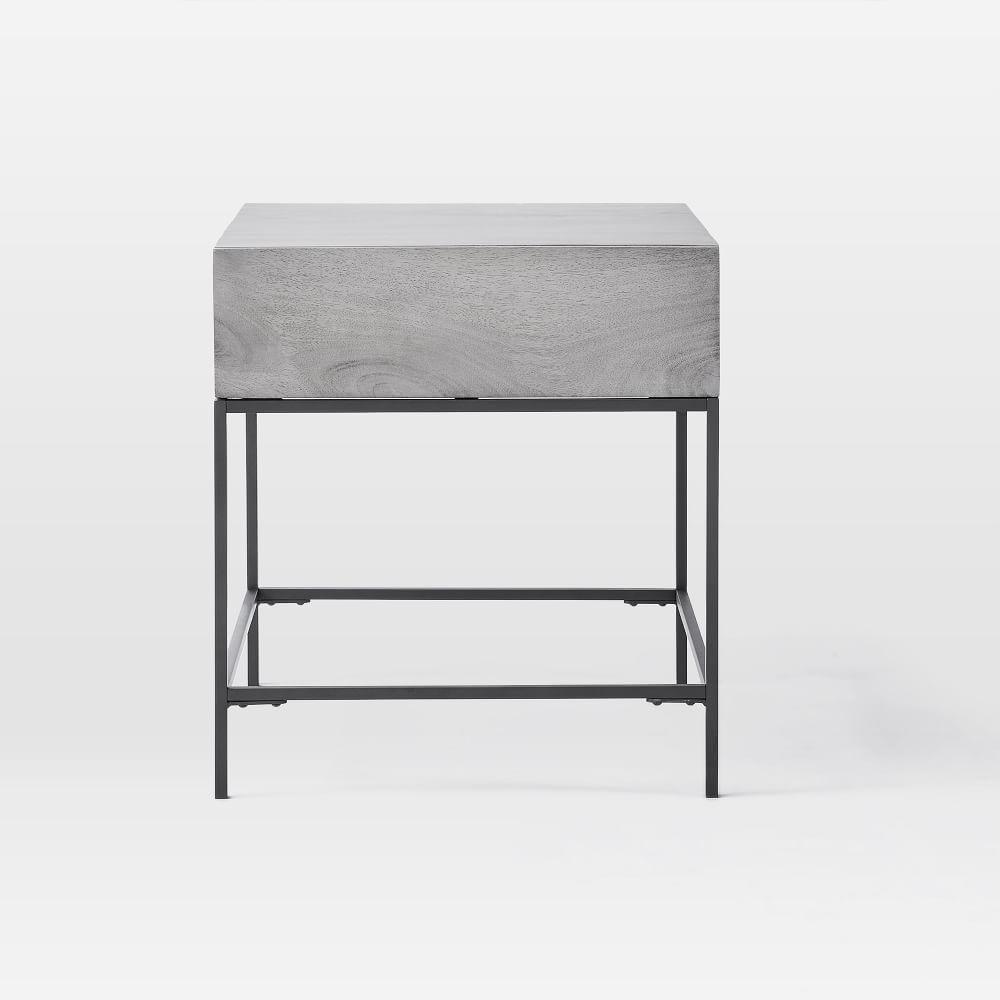 Industrial Storage Side Table - Grey