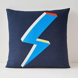 Lightning Bolt Silk Cushion Cover