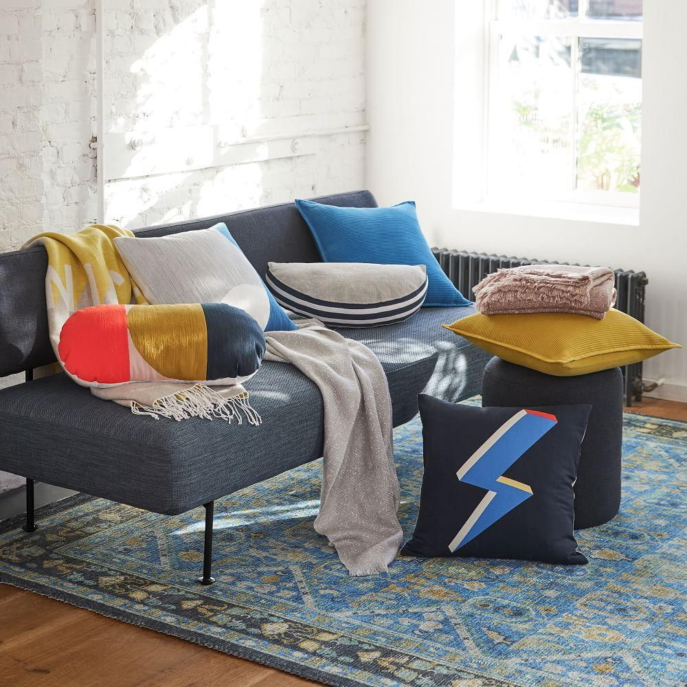 Solid Ribbed Cushion Covers