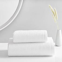 Organic Waffle Towels - White
