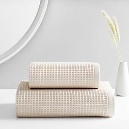 Organic Waffle Towels - Oatmeal