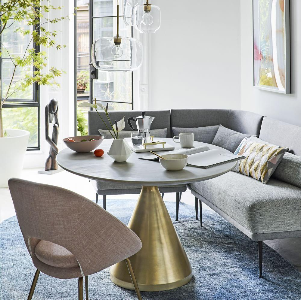 Orb Upholstered Dining Chair West Elm Uk