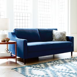 Paidge Sofa (220 cm) - Ink Blue (Performance Velvet)