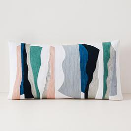 Crewel Collage Composition Cushion Cover