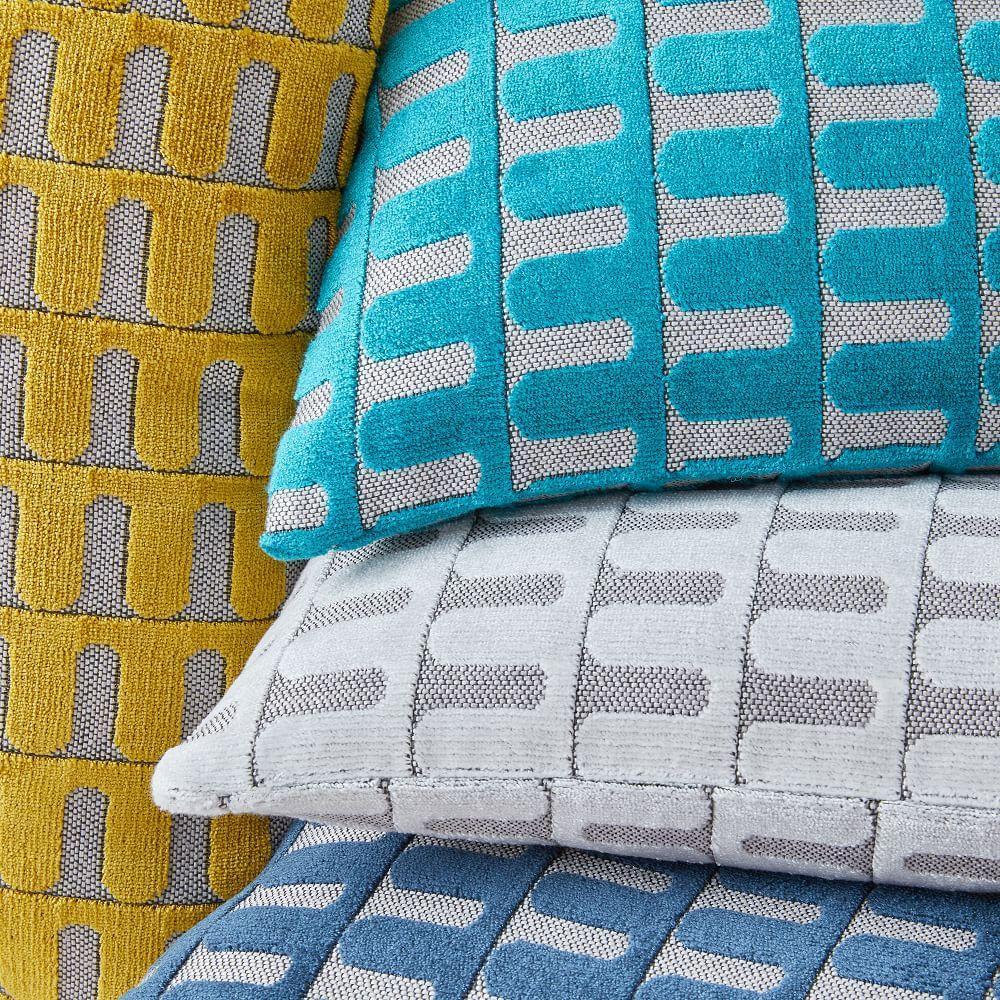 Cut Velvet Archways Lumbar Cushion Covers