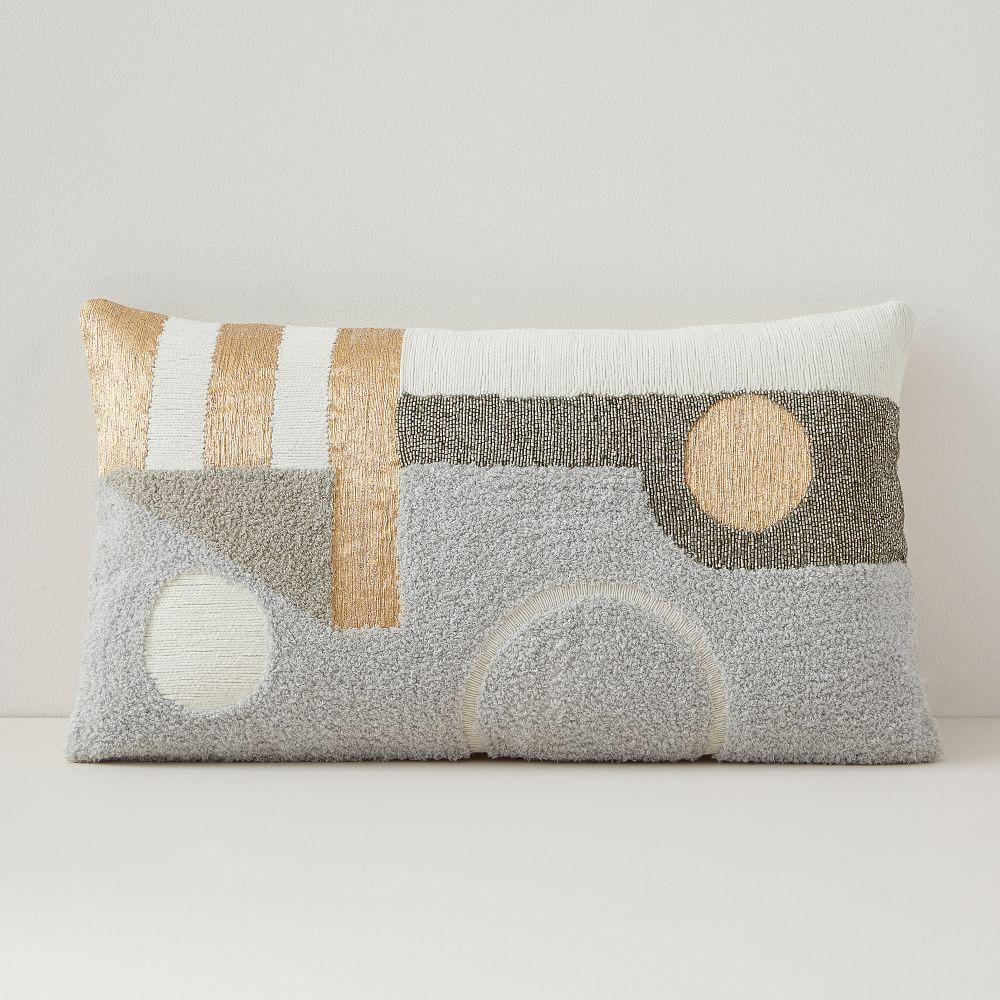 Embellished Deco Contours Cushion Cover