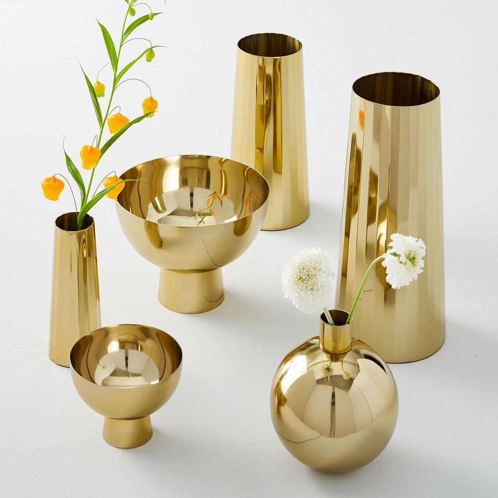 Foundations Brass Vases