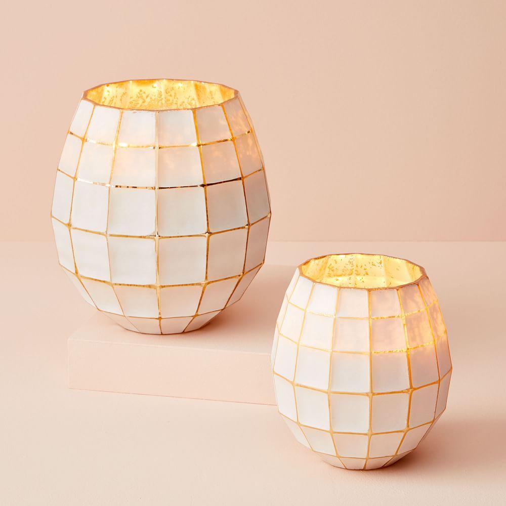 Gold + White Lantern Candles