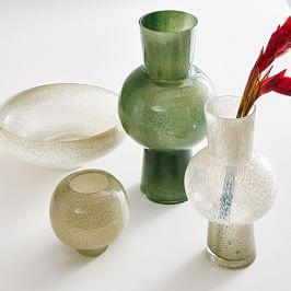 Jade Coloured Glass Vases
