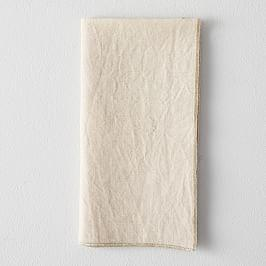 Metallic Border Napkins (Set of 4)