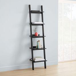 Modern Leaning Narrow Bookshelf