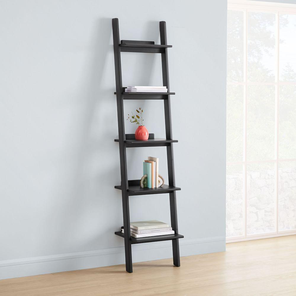 Modern Leaning Narrow Bookshelf West Elm Uk