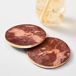 Onyx Marble Coasters (Set of 4)