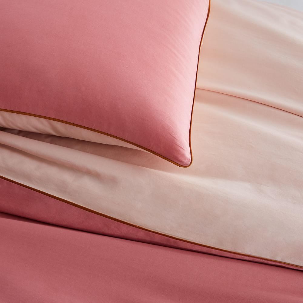 Organic Sateen Reversible Duvet Cover + Pillowcases