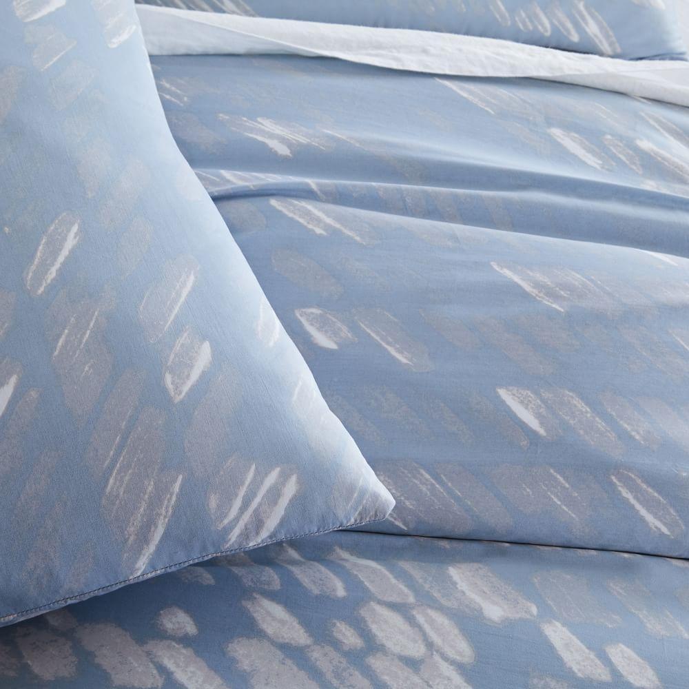 Organic Sateen Slanted Dots Duvet Cover + Pillowcases