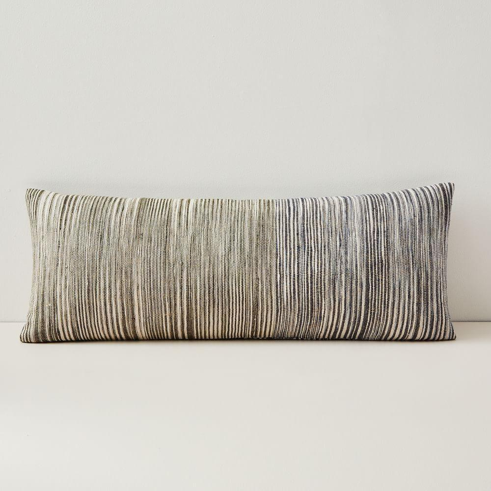 Silk Ombre Striations Bolster Cushion Cover