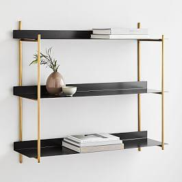 Floating Lines Wall Shelf - 3-Tiered