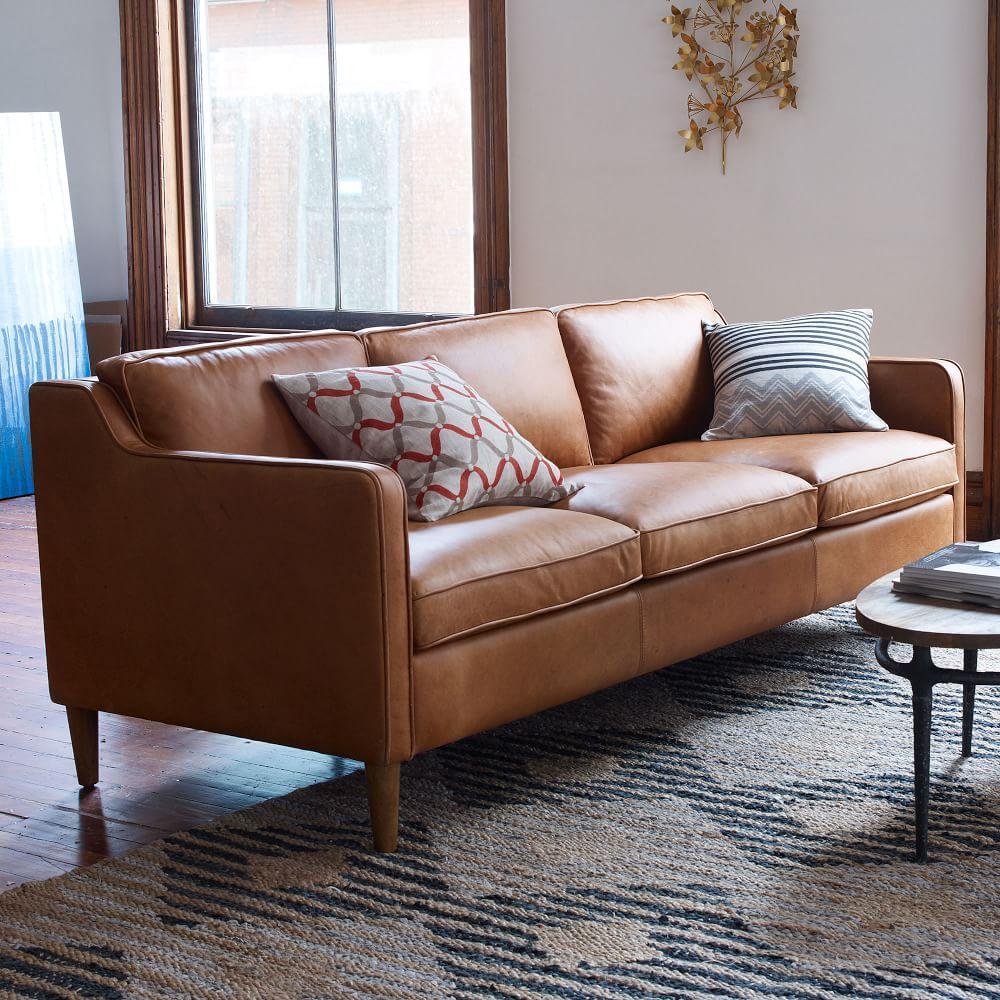 Hamilton Leather Sofa Sienna 206 Cm West Elm Uk